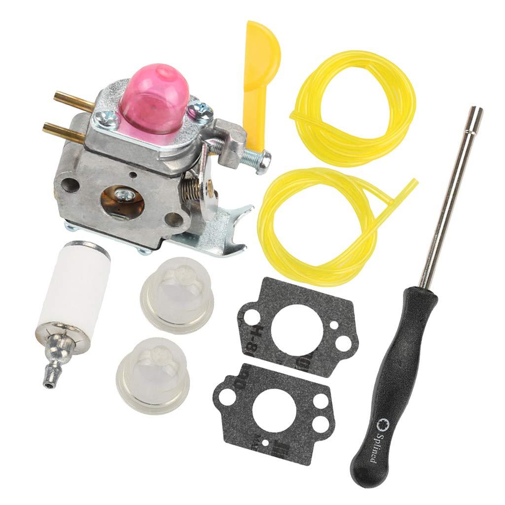 MagiDeal Carburetor Gasket Fuel Line Filter Primer Bulb Kit Fit for ZAMA C1U-W18 Poulan Weedeater FL20 FX26 XT260 Gas Trimmer