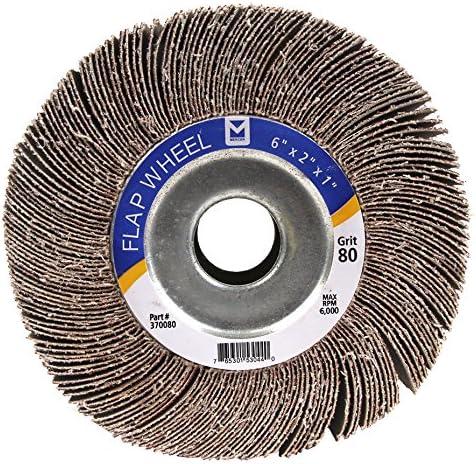 """6/"""" x 2/"""" x 1/"""" Inch 120 Grit Bench Pedestal Grinder Premium Unmounted Flap Wheel"""