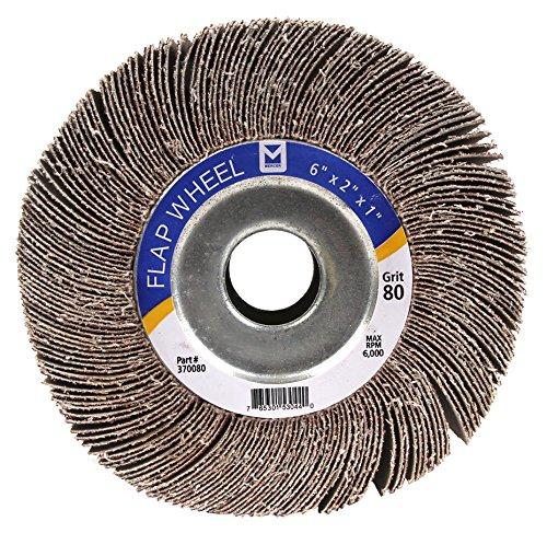 Mercer Industries 370060 Center Hole Flap Wheel, 6'' x 2'' x 1'', Grit 60, Each