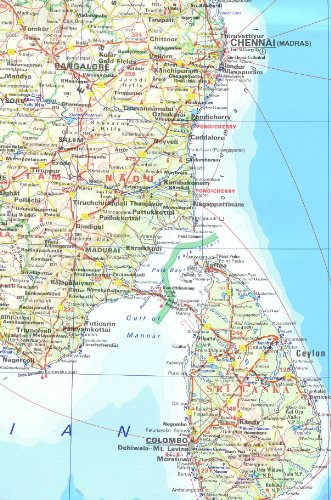 India Road Map 1:4000000 (Ravenstein International Maps)