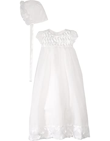 734b7ce2e Jayne Copeland Baby-Girls Newborn Christening Basket Weave Ribbon Dress