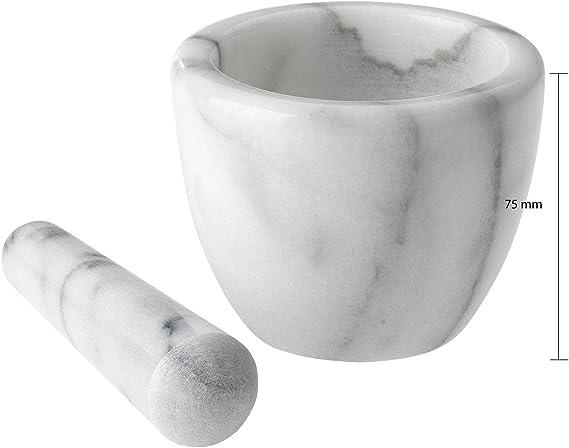 DC Mortier avec pilon diam/ètre 9 cm marbre naturel.