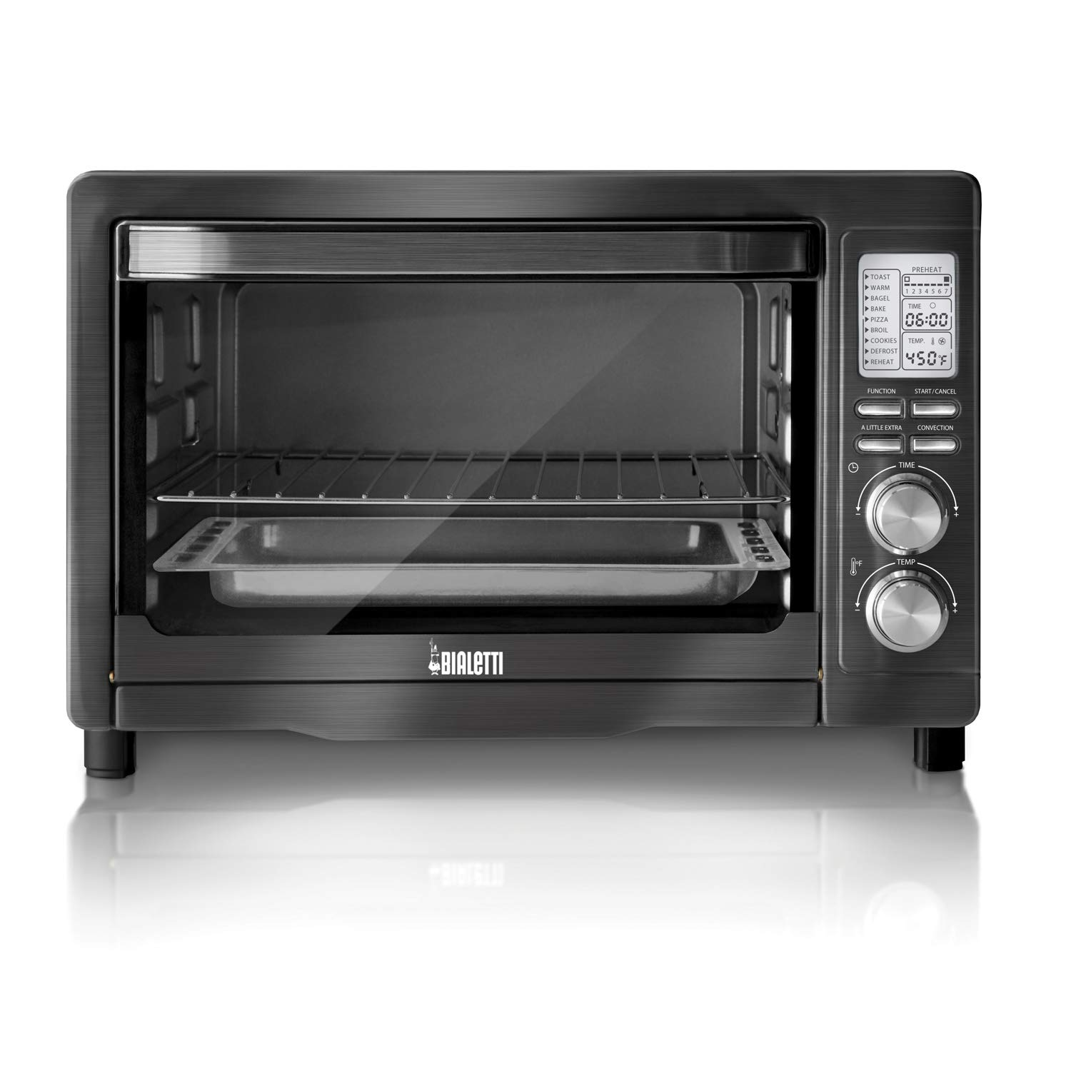 Bialetti (35047) 6-Slice Convection Toaster Oven, Black Stainless Steel by Bialetti