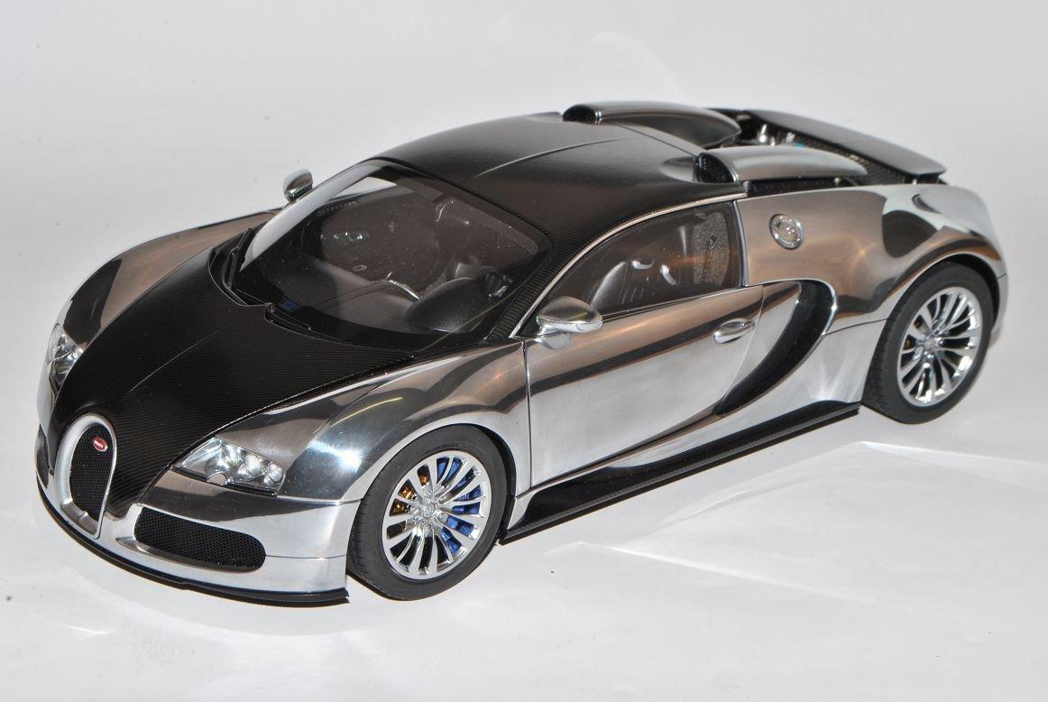 Bugatti Veyron EB 16.4 2008 Pur Sang Schwarz Coupe 70966 1/18 AutoArt Modell Auto