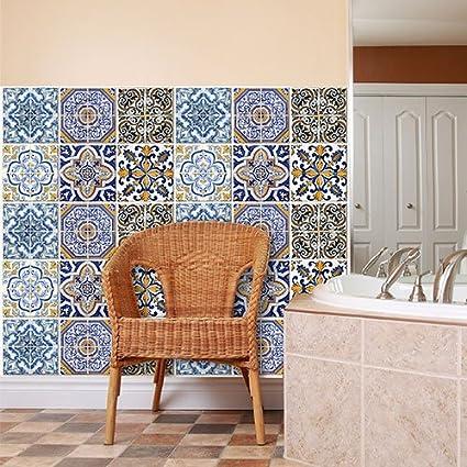 wall art (Confezione 15 Pezzi) adesivi per piastrelle formato 20x20 ...