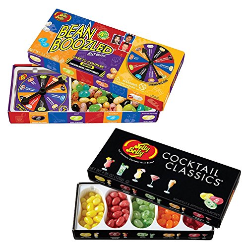 (Set) Jelly Belly Boozled Wacky Nasty & Cocktail Classic Flavors Jellybeans
