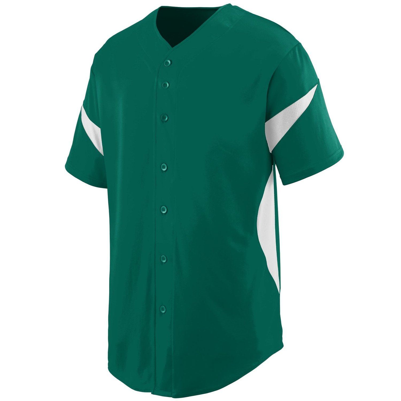 Augusta SportswearメンズホイールHouse Baseball Jersey B00P53RZU0 XXX-Large|ダークグリーン/ホワイト ダークグリーン/ホワイト XXX-Large