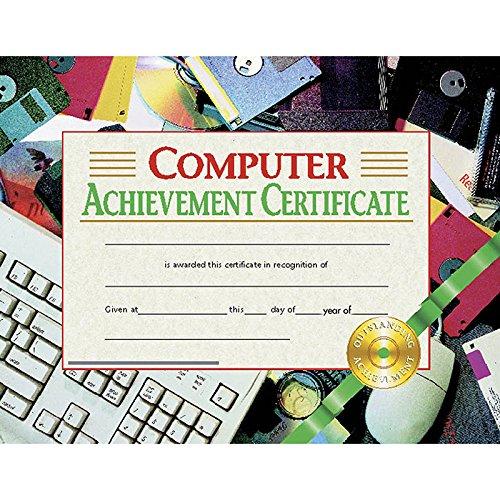 Computer Achievement Certificate (Set of 30) -