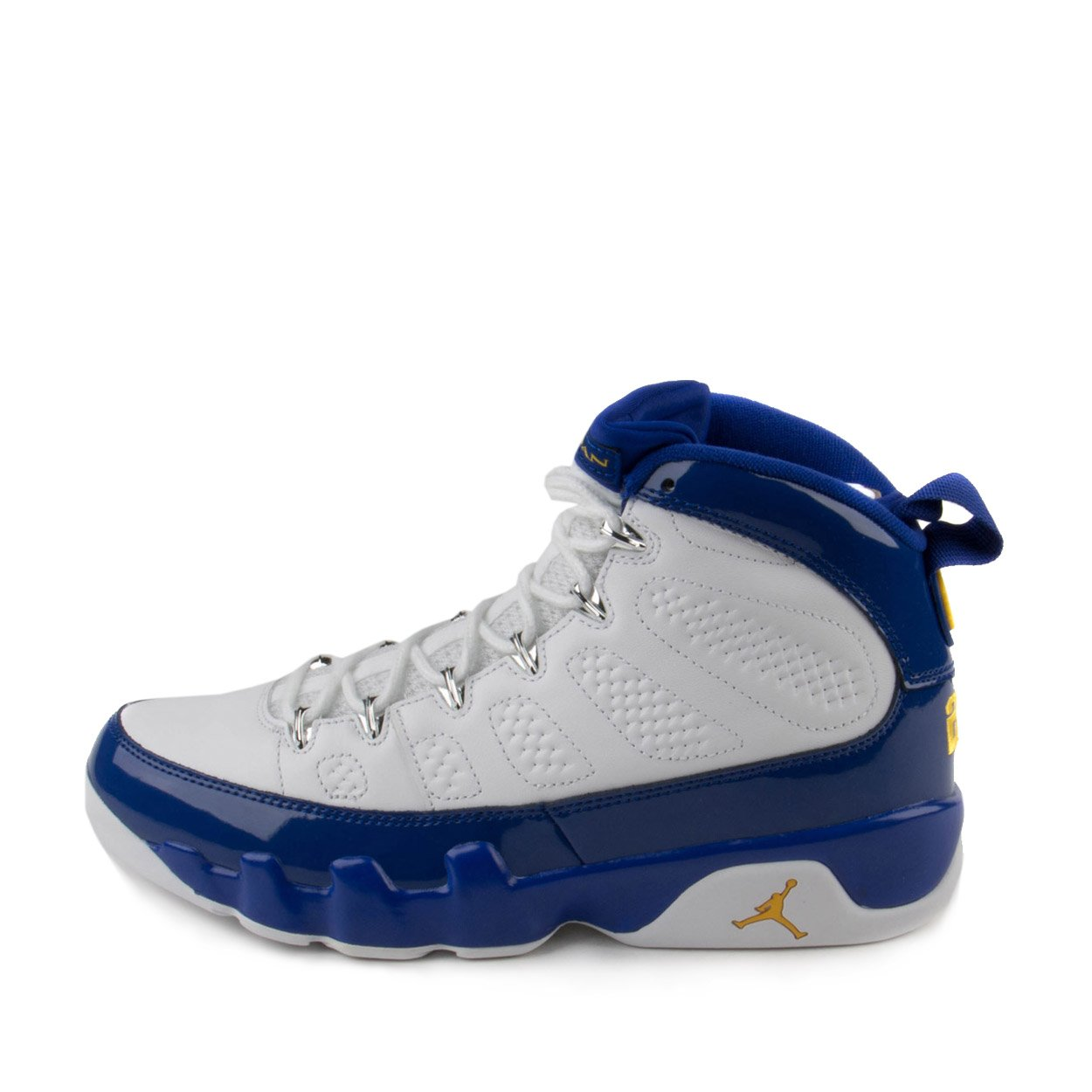 08c9489181306b Galleon - Nike Mens Air Jordan 9 Retro White Tour Yellow-Concord Leather  Size 9