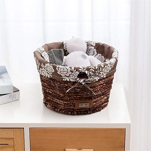 Cesta de almacenamiento de tela para el hogar, sala de estar, mesa ...