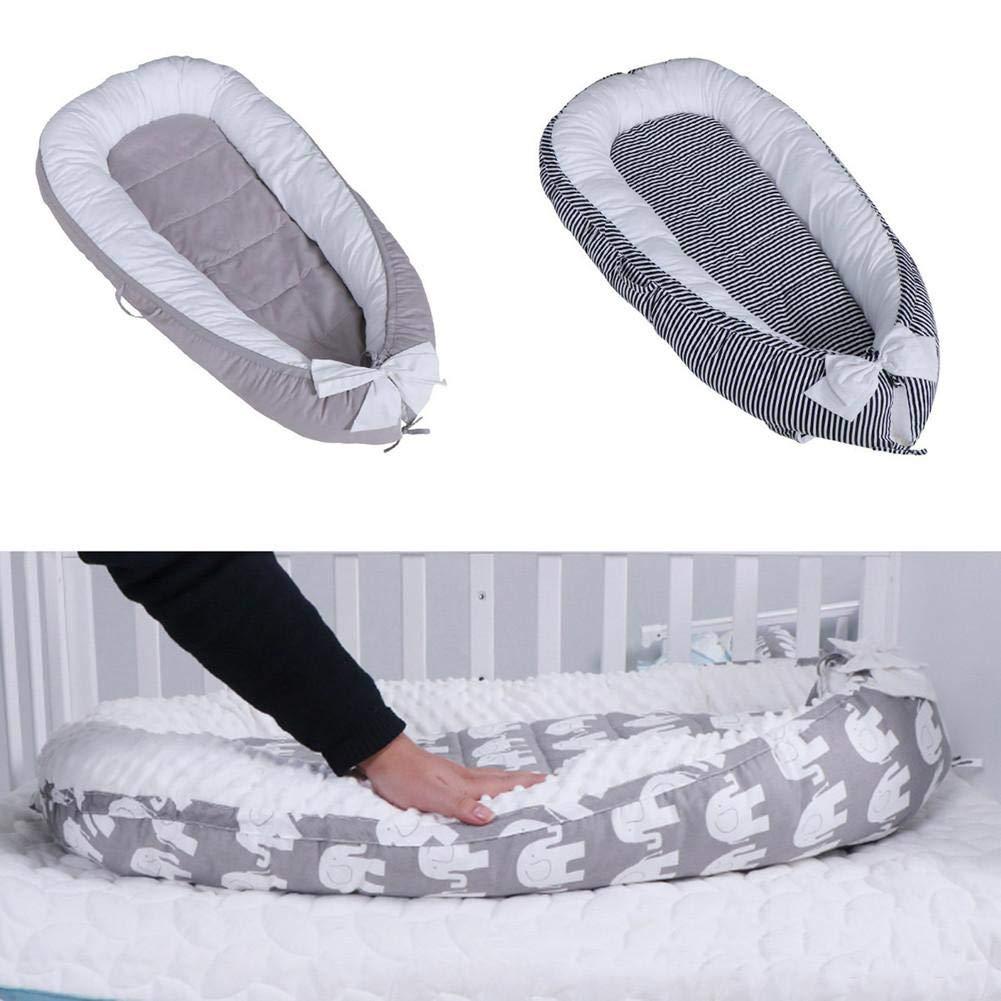 Baby Nest Cocon pour B/éb/é Baby Lounger N/é Nid De Couchage Coussin en Coton Pure Bassinet Longer Anti Allergique Lit De Voyage Amovible Et Lavable pour B/éb/é Nourrisson Golden.Y R/éducteur de Lit B/éb/é