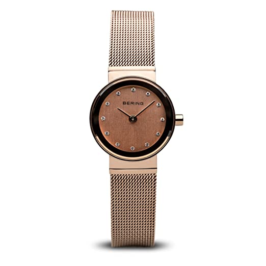 530cd310b45 Bering Time Ladies Watch XS Classic Analogue Quartz Stainless Steel 10122- 366  Amazon.co.uk  Watches