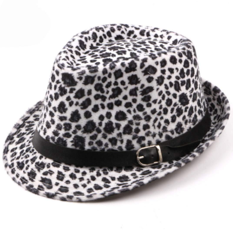 Cappello Fedora Bowler Fancy Jazz Bowler Stampato Leopardato Uomo Donna Primavera Autunno