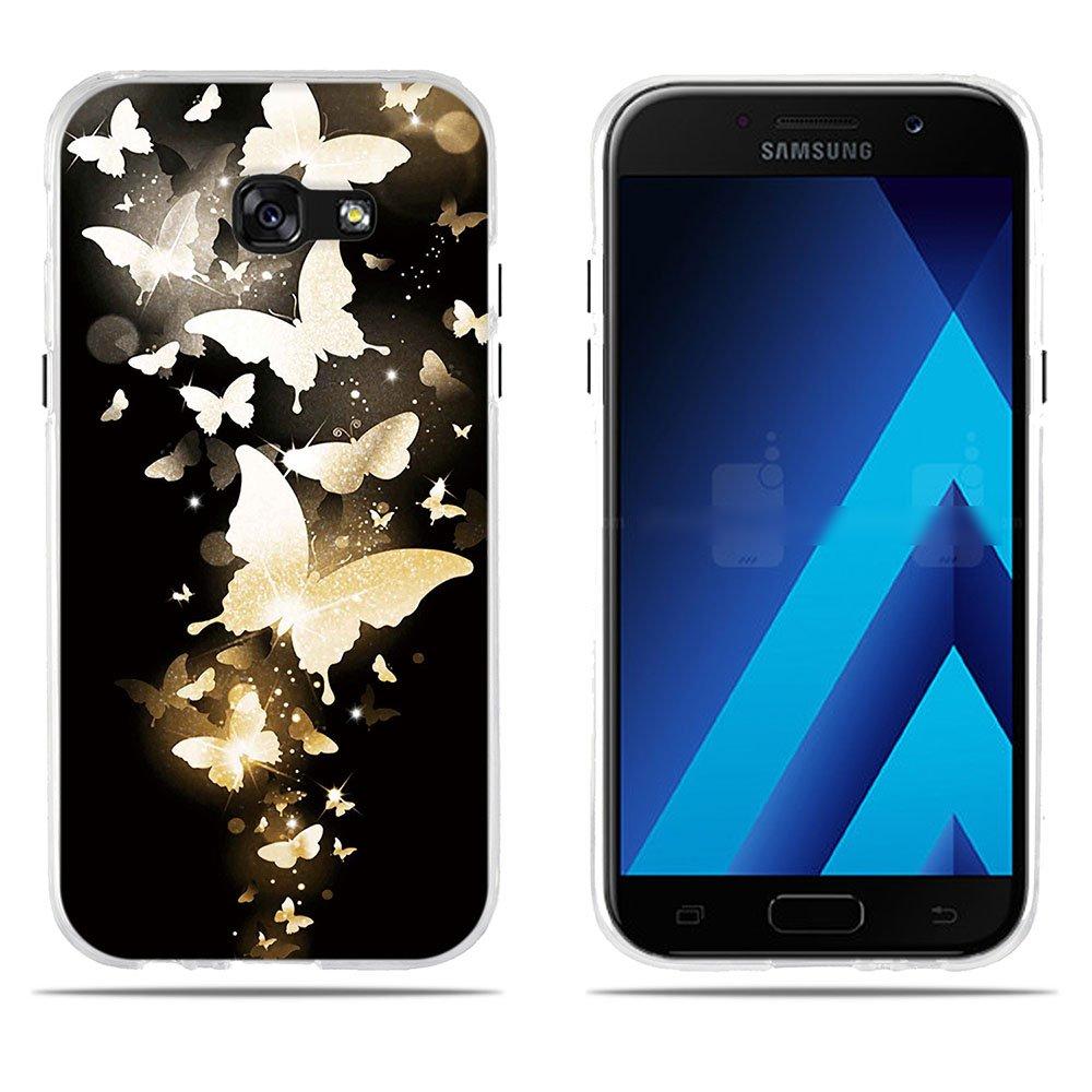Fubaoda Coque Samsung Galaxy A5 2017(A520F), [Bouquet Bleu] Ultra Slim TPU Silicone Haute Qualité Téléphone Portable Coque pour Samsung Galaxy A5 2017(A520F)/5.2 SB-1001