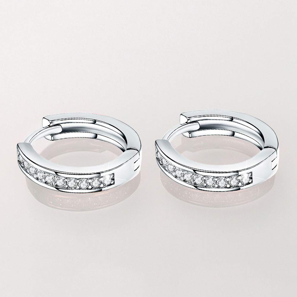 0.67 14k Gold Plated Tone CZ Small Huggie Hoop Earrings For Women Teen Girls jewelry