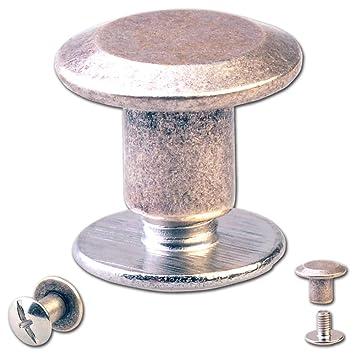 30 rosca remaches, cinturón tornillos, remaches para tornillos de plata-Antik: Amazon.es: Hogar