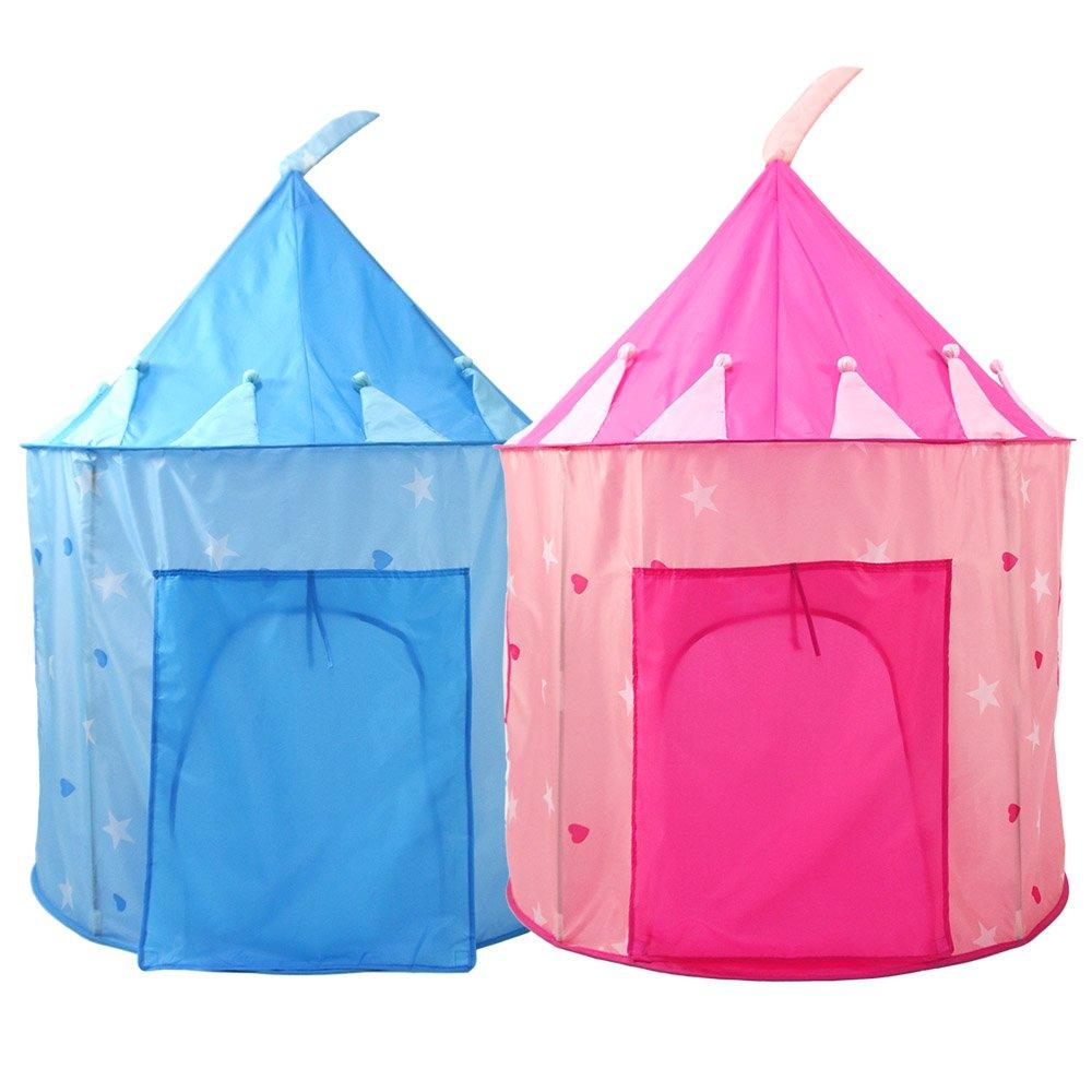 Usfenghezhan プリンセス お城 プレイテント - 屋内/屋外 女の子用プレイハウス 持ち運びケース付き 持ち運びと収納が簡単 ピンク RE1101P B07L11W6GB ピンク