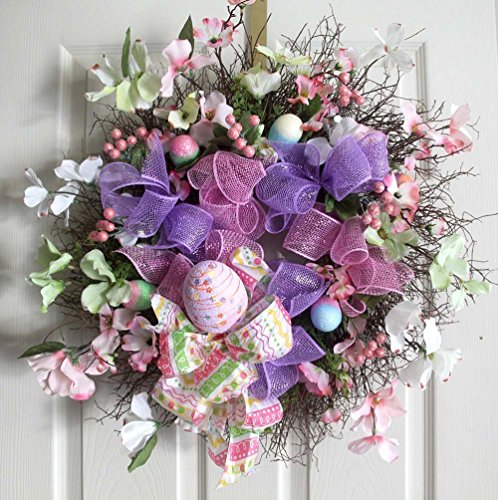 Easter Wreath, Easter Egg Wreath, Spring Wreaths, Easter Decoration, Front door Wreaths, Bunny Wreath, wreath for front door, wreathe