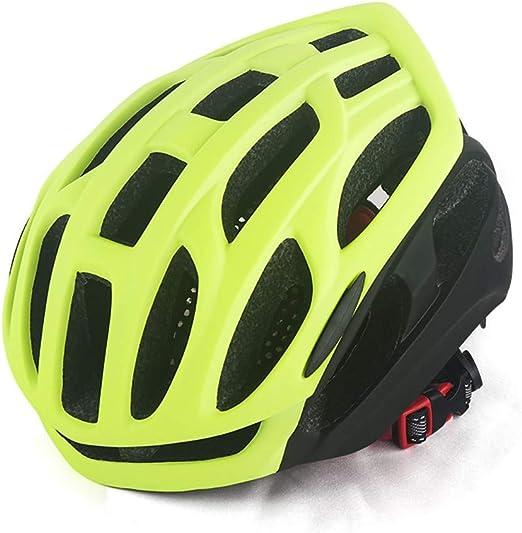 FHGH Casco de Bicicleta MTB con Forro extraíble PC EPS arnés ...