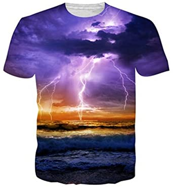 fcecd8b6d uideazone Mens 3D Print Hipster Short Sleeve Shirt Casual Graphics Tees:  Amazon.co.uk: Clothing