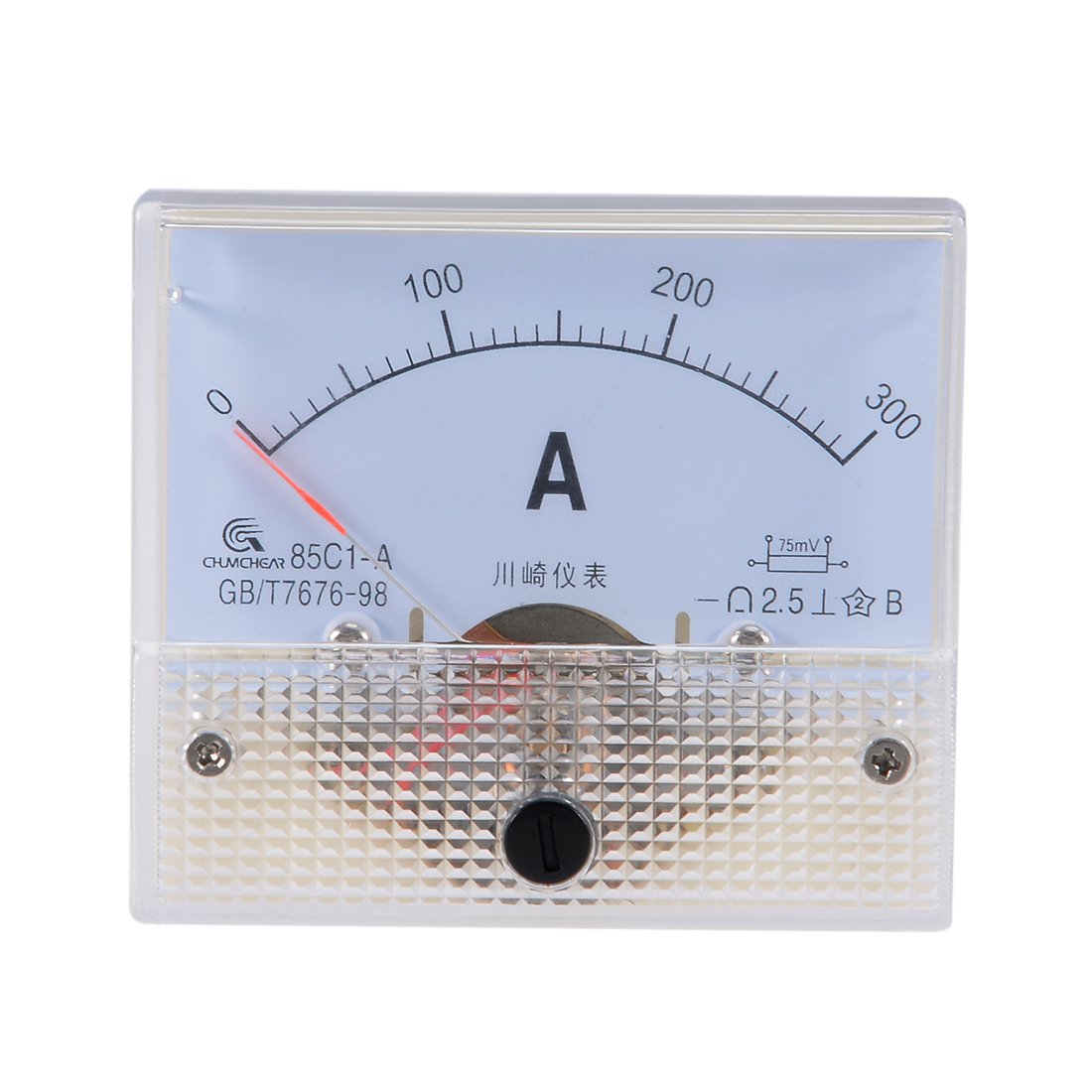 uxcell 91C4-A Analog Current Panel Meter DC 1A Ammeter for Circuit Testing Ampere Tester Gauge 1 PCS a18042000ux0431