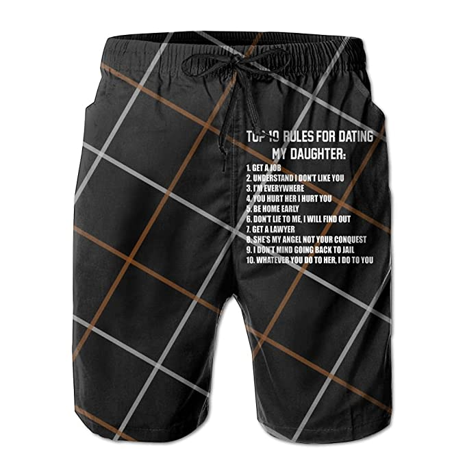 433bb26e80b Top Ten Rules for Dating Mens Athletic Classic Summer Boardshorts with  Pockets