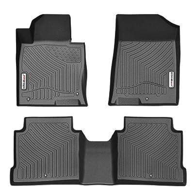 YITAMOTOR Floor Mats Compatible with Optima & Sonata, Custom Fit Floor Liners for 2016-2020 Kia Optima, 2015-2020 Hyundai Sonata, 1st & 2nd Row All Weather Protection: Car Electronics