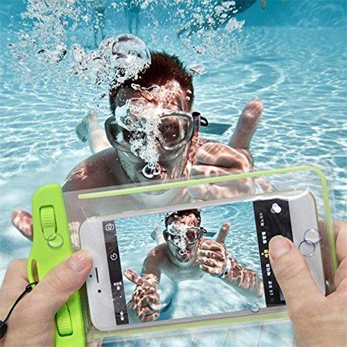 Price comparison product image Universal Waterproof Coque Case for IPhone 8 8plus 7 7Plus 6 6Plus 6s 6s Plus 5s 5 SE for Samsung GalaxyNote4 Note5 Note7 S5 S7 S7 Edge S8 Case Cover Swim Waterproof Phone Pouch Fluorescent