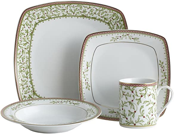 Service for 1 Mikasa Concord Green 4-Piece Place Setting