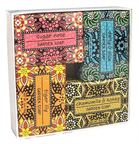 Shea Butter Soap Sampler -  Set of 4 Assorted Scents (Exfoliating Bundle 2)