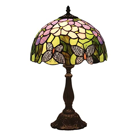 Amazon Com Glight 12 Inch Table Lamp Tiffany Style Stained Glass