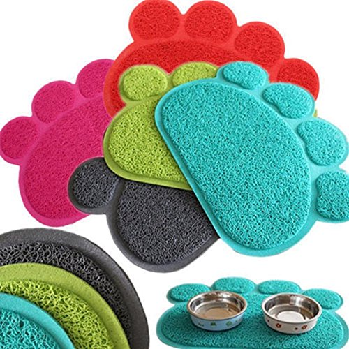 - Agordo Placemat Small Footprint Pet Feed Mat Dish Bowl Stand Dog Cleaning Pad YA9