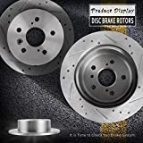 AUTOSAVER88 281mm 5-Lug Drilled & Slotted Rear Brake Rotors For 2007-2015 Toyota Avalon Camry LEXUS ES300H ES350, Pack of Two