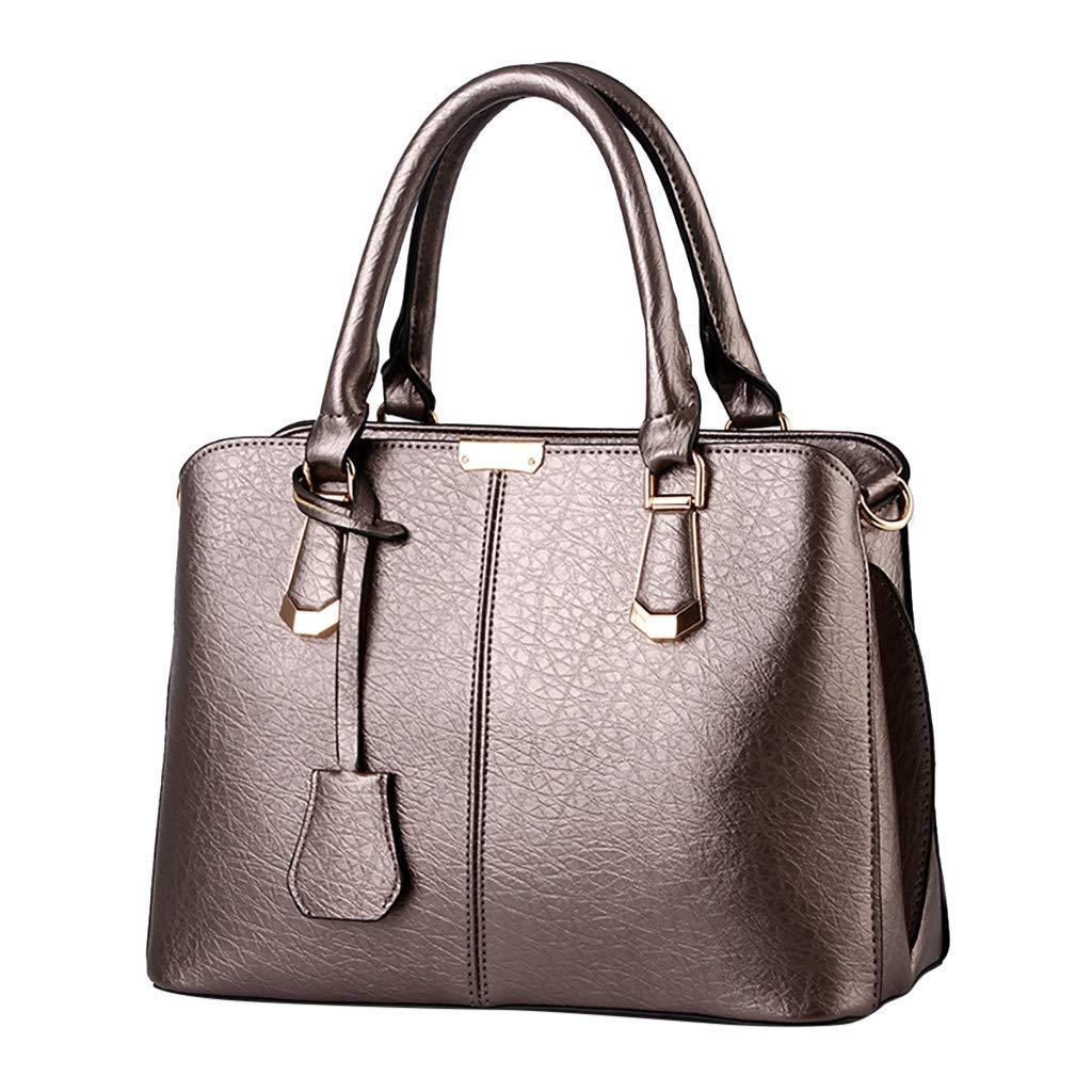 Shoulder Bags,AgrinTol Women Large Capacity Simple Fashion Top Handle Satchel Tote Purse (Bronze) by Agrintol_Fashion Bags