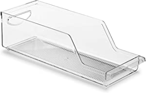 Soda Can Organizer for Refrigerator, Freezer, Pantry, Countertop,Clear Plastic Food Beverage Container