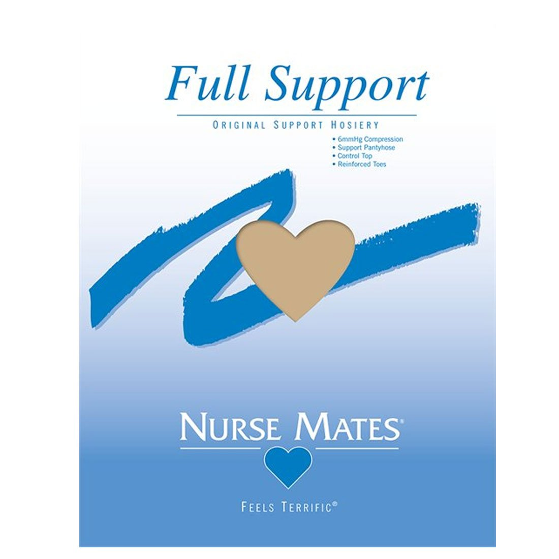Nurse Mates Nearly Nude Full Support Pantyhose Size C