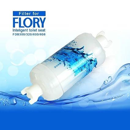 R Flory bidé eléctrico digital inteligente asiento para inodoro FDB608 funciones integrado, mando a distancia