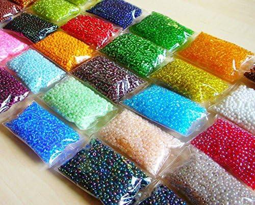 600g 4mm 30 colori rocailles perline di vetro perline di vetro tondo No6 8000 pezzi Mini Perline Seed Beads Z21