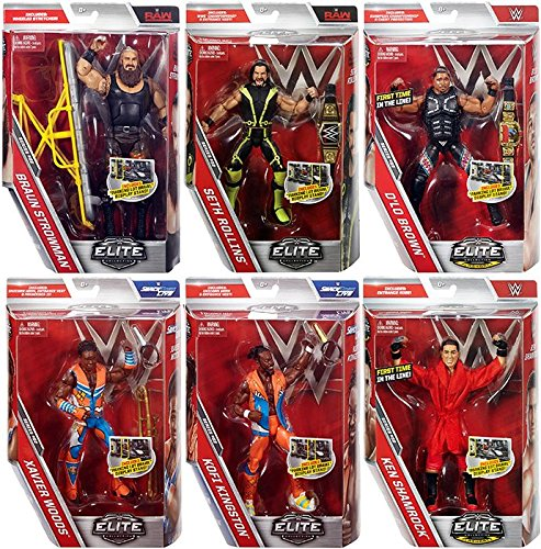 WWE Elite 52 - Complete Set of 6 Mattel Toy Wrestling Action Figures by WWE