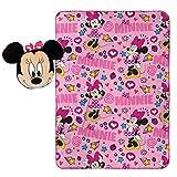 Disney Minnie Mouse Doodle Nogginz Pillow with 40'' x 50'' Travel Blanket Set