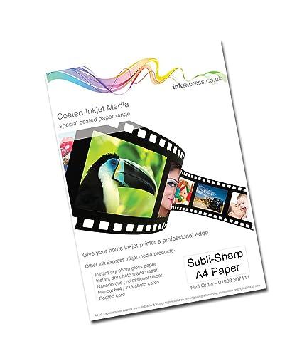 Ink Express - Pack Subli-Sharp Papel de sublimación, 120 g ...