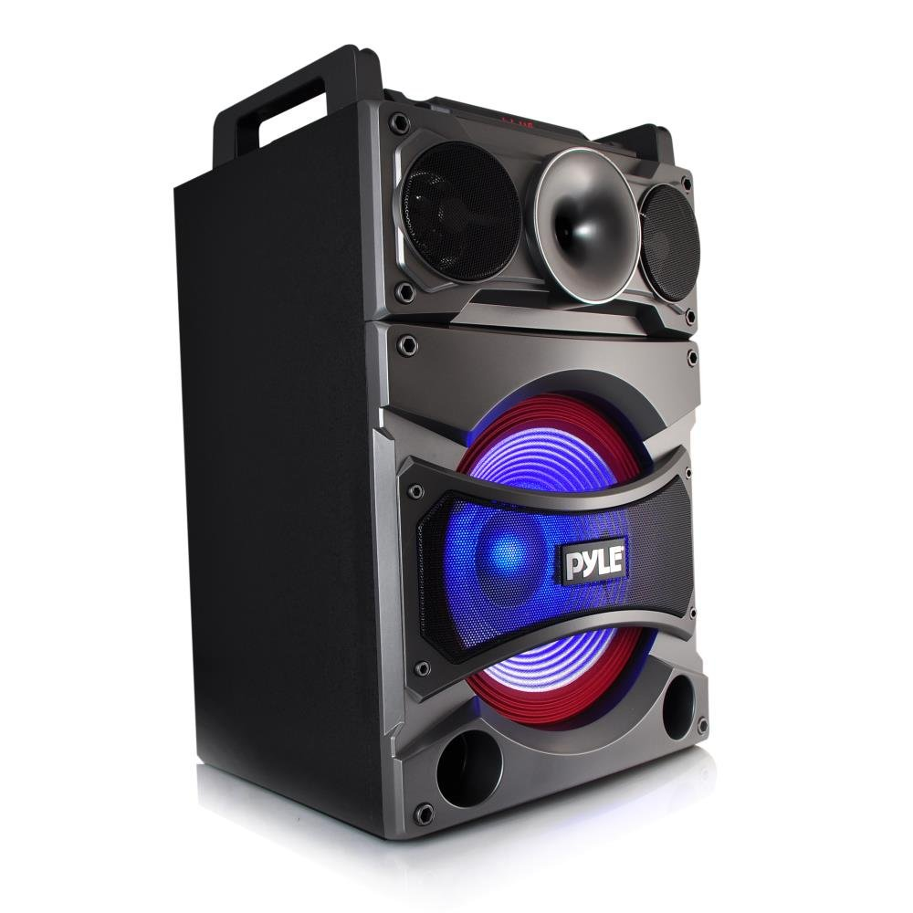 Pyle PSUFM1238BT Bluetooth PA Loudspeaker Karaoke Entertainment System, Wireless Mic