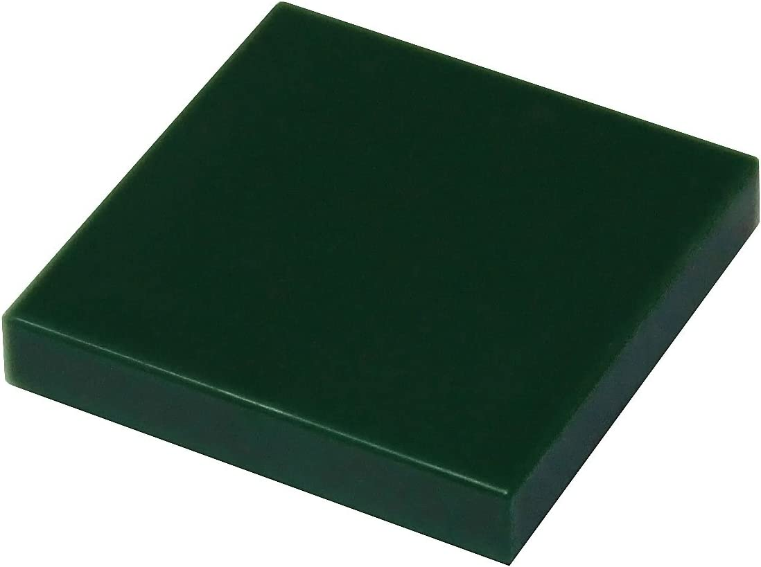 LEGO Parts and Pieces: Dark Green (Earth Green) 2x2 Tile x50