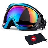JTENG Maschera da sci di protezione maschera Occhialoni moto per attività esterna Motocicletta / Cross / ATV / Sci / Motociclo / Bicicletta Google Anti-UV Antinebbia len colorato