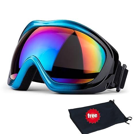 565bf5db58a6e1 Lunettes de ski, JTENG Masques Snowboard de Protection Ski Lunettes, Ski  Goggles Coupe-
