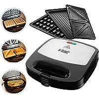 Russell Hobbs 24540-56 Fiesta 3'ü 1 Arada Deep Fill Tost/Waffle/ Izgara Makinesi, 30Cm, Siyah