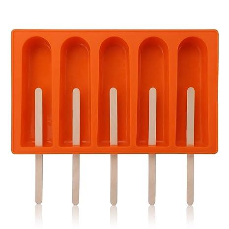 Amazon.com: Molde de silicona para paletas de helado, Beasea ...