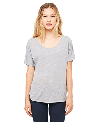 Bella 8816 Ladies Flwy Simple T-Shirt at Amazon Women's Clothing ...