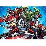 Avengers Papier Peint Photo/Poster - Captain America, Iron Man Et Hulk, Attaque Des Super-Héros, 1 Partie (160 x 115 cm)