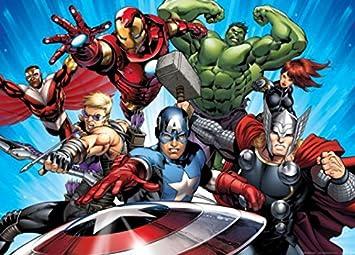 Art  The Avengers Captain America Iron Man Hulk Angriff Der Superhelden